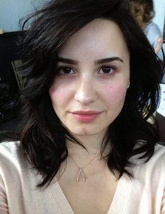 Demi Lovato's Perfect No Makeup Selfies, check it out at http://makeuptutorials.com/celebrities-without-makeup/