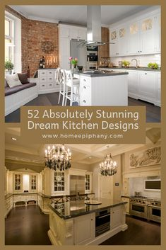 Check out these 52 dream kitchens (photos) Luxury Kitchen Design, Best Kitchen Designs, Luxury Kitchens, Cool Kitchens, Dream Kitchens, Home Design Decor, Easy Home Decor, Home Decor Kitchen, House Design