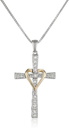 8b6e40f8a1302 Heart Necklace 14K Gold Plated 5A Cubic Zirconia Pendant Necklaces for women