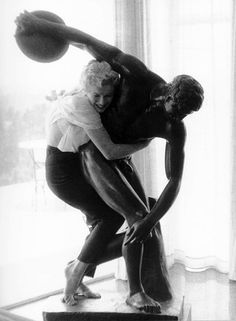 Marilyn Monroe...something I would do...but now a days...they would throw you out. Lol