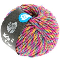 MILLE II color 802-zyclam/yellow/jeans/grey mix