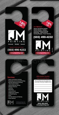 JM Painting's Door Hanger Design from YourDesignPick