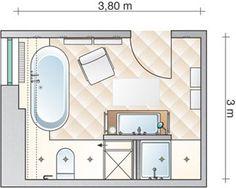 Ein großes Bad wird mit Leben gefüllt - Grundriss - Vorher Nachher - [LIVING AT HOME]
