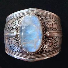 Moonstone Newari Cuff Bracelet