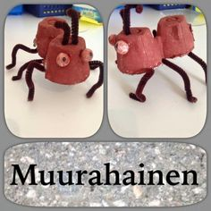 Muurahainen Bug Crafts, Crafts To Make, Recycled Crafts, Toddlers, Recycling, Animal, Education, Food, Manualidades