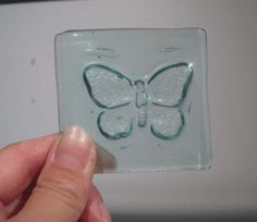 fused bottle glass with plaster