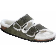 slippers: Birkenstock Men´s Arizona Fur Sage Suede Sandals 44 N EU N 652613 Birkenstock Sandals, Birkenstock Arizona, Suede Sandals, Flat Sandals, Fashion Slippers, Shops, Womens Slippers, Unisex, Style Inspiration