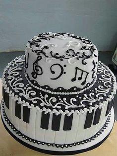 Pasteles para Músicos: Imágenes de Tortas Musicales para Cumpleaños