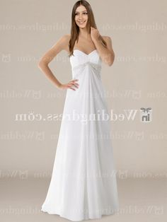 Chiffon Strapless Sweetheart A-Line Bridal Gown BC629