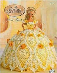 Resultado de imagem para vestido crochet barbie princesa