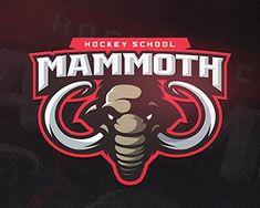 Hockey School Mammoth by zerographics Typography Logo, Logo Branding, Branding Ideas, Lettering, Esports Logo, Best Logo Design, Graphic Design, Sports Graphics, Game Logo