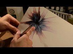 Alcohol Ink Art - Flower Technique Video - YouTube