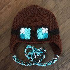 Dan TDM inspired crochet hat minecraft inspired hat by SassyProjex