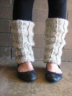 free pattern: Ella Knitted Leg Warmers