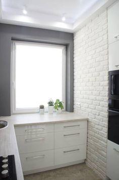 Mała kuchnia: styl Nowoczesny, w kategorii Kuchnia zaprojektowany przez Anna… Malaga, Home Kitchens, Tiny House, Vanity, Interior, Dreams, Inspiration, Home Decor, Yellow