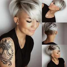 36 Pretty Fluffy Short Hair Style Ideas For Short Pixie Haircut - Latest Fashion Trends For Woman hair styles 36 Pretty Fluffy Short Hair Style Ideas For Short Pixie Haircut - Latest Fashion Trends For Woman Latest Short Hairstyles, Latest Haircuts, Short Pixie Haircuts, Bob Hairstyles, Pixie Cut With Undercut, Undercut Pixie Haircut, Edgy Pixie Cuts, Haircut Short, Hairstyles Videos