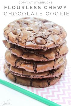 Copycat Starbucks Flourless Chewy Chocolate Cookie