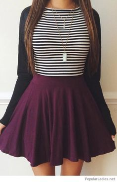 49 modest but classy skirt outfits ideas suitable for fall Outfits 2016, Fall Outfits, Summer Outfits, Casual Outfits, Outfits Fo, Simple Outfits, Teen Fashion, Fashion Outfits, Womens Fashion