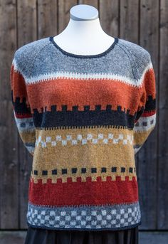 I think this design could be pretty in more subtle colors as well. Kids Knitting Patterns, Knitting For Kids, Knitting Designs, Crochet Patterns, Cardigan Pattern, Knit Cardigan, Fair Isle Knitting, Crochet Clothes, Knitwear
