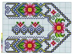 Cross Stitch Bookmarks, Cross Stitch Borders, Cross Stitch Flowers, Cross Stitch Charts, Cross Stitching, Cross Stitch Patterns, Hand Embroidery Stitches, Cross Stitch Embroidery, Embroidery Patterns