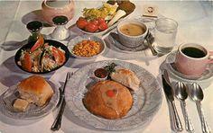 Nifty Valparaiso Indiana postcard. Chrome[post card of the Strongbow Turkey Farm and Inn. Whats on the menu dear?? Iceberg lettuce & tomatoes