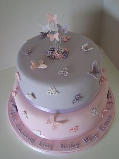 Naming Day cake by Sweet Tiers Cakes (Hester), via Flickr