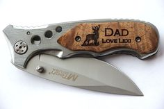 Fathers Day, Fathers Day Gift, Personalized Custom Engraved Knife, Father Daughter Gift, Father in Law Gift, Father's Day Gift, Dad Gifts $22.99