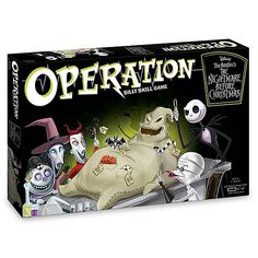 The classic Operation board game meets the popular animated movie with OPERATION: The Nightmare Before Christmas. This collectible edition allows fans the opportunity to be the surgeon and remove custom Funatomy parts from Oogie Boogie. Great Halloween Costumes, Halloween Home Decor, Halloween House, Halloween Decorations, Halloween Party, Halloween Witches, Halloween 2020, Costume Ideas, Happy Halloween