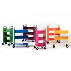 DEMCO® LibraryQuiet® Book Trolleys - Book Trolleys & Returns : Gresswell - Specialist Library Supplies  have to suggest these bad boys to the boss!