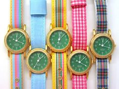 griffin & cooke - interchangeable watch faces and ribbon bands