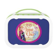 Anna and Elsa with Floral Frame Lunch Box at Zazzle  http://www.zazzle.com/anna_and_elsa_with_floral_frame_lunch_box-256155443468066300?rf=238090244331062886