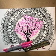 [New] The 10 All-Time Best Home Decor (Right Now) - Ideas by Janis Thomas - Feels like spring Custom mandala from last year. Mandala Art Lesson, Mandala Artwork, Mandala Painting, Mandala Drawing, Doodle Art Drawing, Zentangle Drawings, Pencil Art Drawings, Art Drawings Sketches, Zentangles