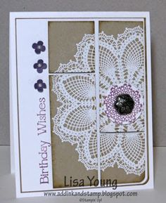 Add Ink and Stamp: CCMC263 Hello Doily