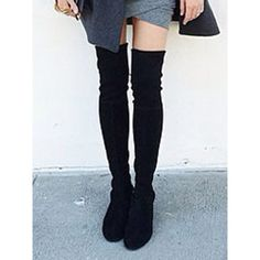 Black Suede Pointed Laced Back Over The Knee Flat Boots ($100) ❤ liked on Polyvore featuring shoes, boots, over-the-knee high-heel boots, black over-the-knee boots, over the knee lace up boots, flat knee high boots and black thigh-high boots