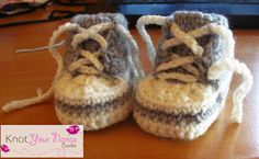 Free Crochet Pattern for Newborn High Tops or Converse - my son would love his future baby to have these Converse style -check later