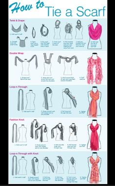 Ways to put on a scarf