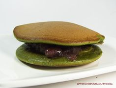 orayaki are Japanese pancake sandwiches with sweet fillings. Traditionally the fillings are made with red azuki beans but you will also find them filled with custard, black sesame, cinnamon paste and different flavoured creams.