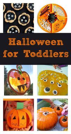 Fun Halloween ideas for toddlers :: preschool Halloween crafts, games, sensory play