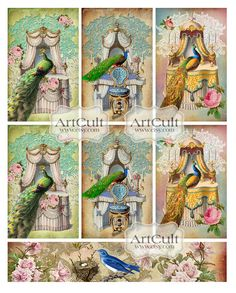 CHAMBRE ROYALE TAGS Digital Collage Sheet Printable by ArtCult