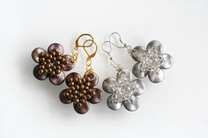 Pattern for 'Constellation Earrings' by Preciosa. www.thebeadingroom.com