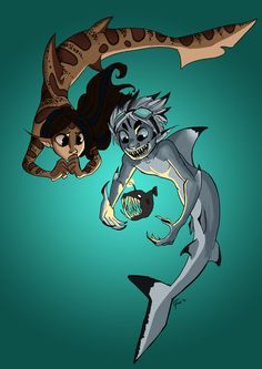 Merfolk Shark | shark people by harpymarx digital art drawings paintings fantasy 2012 ...