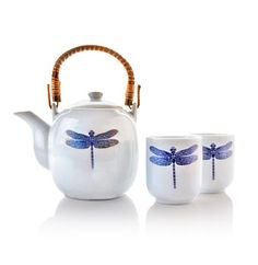 Dragonfly teapot set