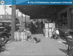 PhillyHistory.org - Northeast Corner - 9th and Washington Avenue Looking West - Washington Avenue East of 9th Street