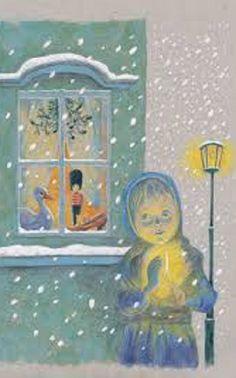 Illustration Renáta Fučíková . H.Ch.Andersen :Děvčátko se sirkami
