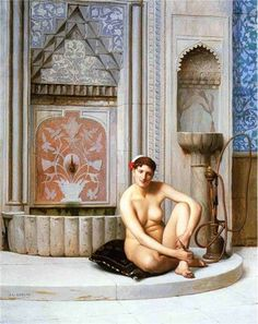 Jean-Leon Gerome Nude. With the Orientalism movement of the late 19th century, European artists introduced the world to the hookah