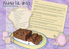You can download this recipe card for Pudina tal Hobz (chocolate bread pudding) here. http://www.scrapsofmind.com/2010/10/14/recipe-scrapbookingchocolate-bread-pudding/ One of my favourite dishes. Layout created using The Garden Party free digital scrapbook kit. Also available from Scraps of Mind