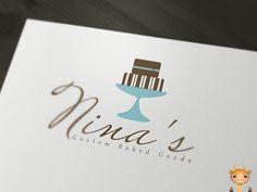 Nina's Custom Baked Goods #onegiraphe #portfolio #designer #cake #bake #logo #design