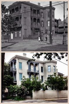 Here's another then and now for y'all...corner of Esplanade and Bourbon, early 1900s and 2014.