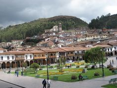 Plaza de Armas in Cusco near the travel agency which Karla's father owns.