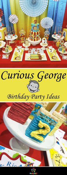 A fun birthday party idea for boys based on famous cartoon character Curious George.
